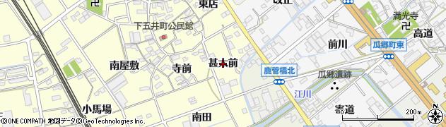 愛知県豊橋市下五井町(甚太前)周辺の地図