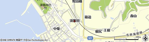 愛知県西尾市東幡豆町(須賀田)周辺の地図