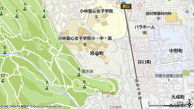 〒665-0073 兵庫県宝塚市塔の町の地図