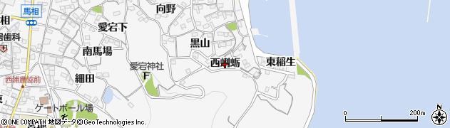 愛知県蒲郡市西浦町(西蜊蛎)周辺の地図