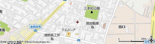 愛知県豊橋市東森岡周辺の地図