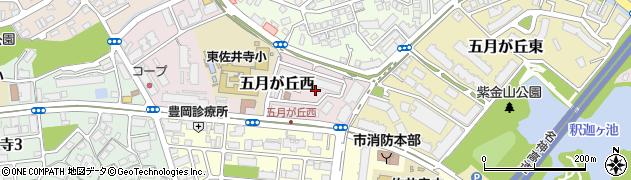 東千里山団地周辺の地図