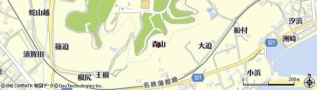 愛知県西尾市東幡豆町(森山)周辺の地図
