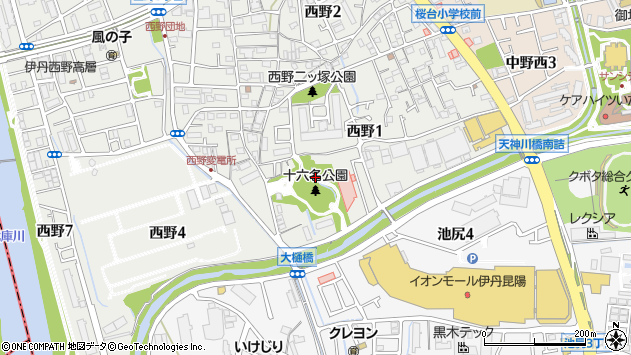 〒664-0028 兵庫県伊丹市西野の地図
