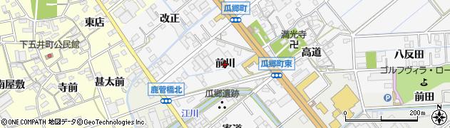 愛知県豊橋市瓜郷町(前川)周辺の地図