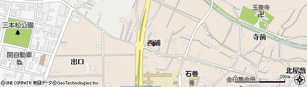 愛知県豊橋市石巻町(西浦)周辺の地図