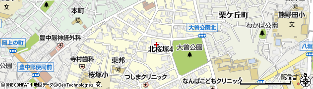 北桜塚マンション周辺の地図