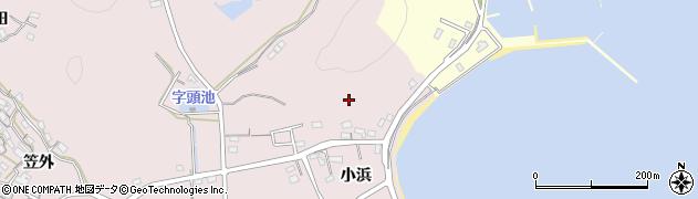 愛知県西尾市寺部町(小浜)周辺の地図