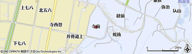 愛知県西尾市吉良町乙川(寺前)周辺の地図