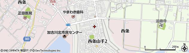 兵庫県加古川市西条山手周辺の地図