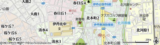 発音寺周辺の地図