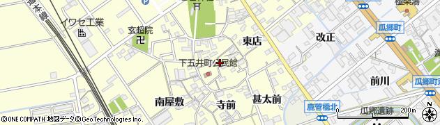 愛知県豊橋市下五井町(城屋敷)周辺の地図