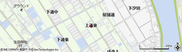 愛知県西尾市一色町千間(上通東)周辺の地図