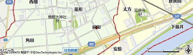 愛知県豊橋市日色野町(前田)周辺の地図