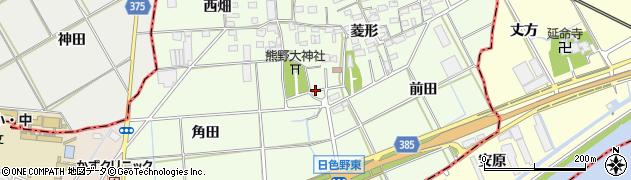 愛知県豊橋市日色野町周辺の地図