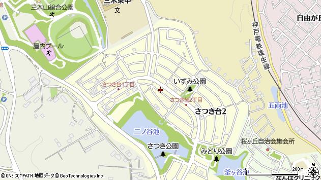 〒673-0436 兵庫県三木市さつき台の地図