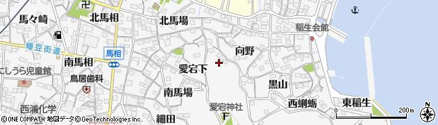 愛知県蒲郡市西浦町(大谷ケ入)周辺の地図