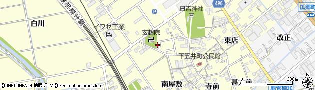 愛知県豊橋市下五井町(西屋敷)周辺の地図