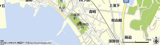 愛知県西尾市東幡豆町(宮後)周辺の地図