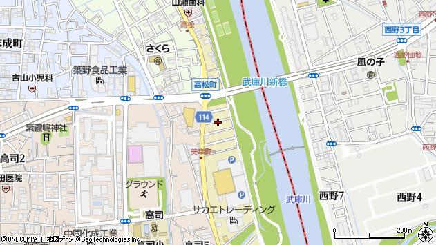 〒665-0042 兵庫県宝塚市美幸町の地図