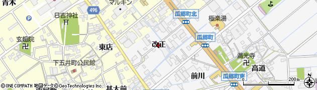 愛知県豊橋市瓜郷町(改正)周辺の地図