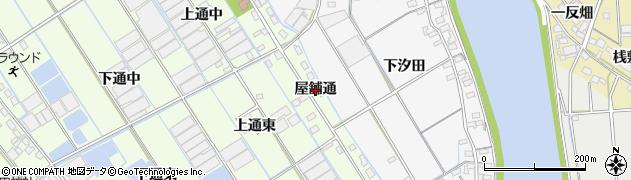 愛知県西尾市一色町千間(屋舗通)周辺の地図