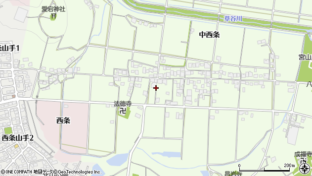 〒675-1205 兵庫県加古川市八幡町中西条の地図
