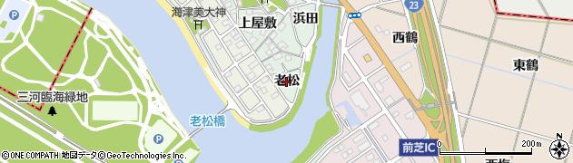 愛知県豊橋市梅薮町(老松)周辺の地図