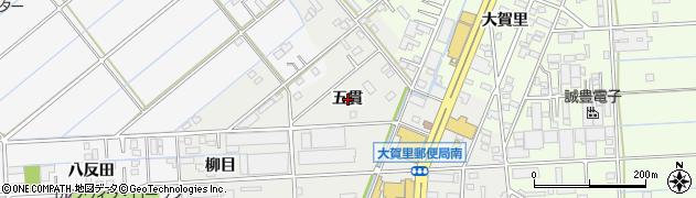 愛知県豊橋市下地町(五貫)周辺の地図