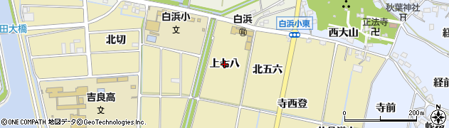 愛知県西尾市吉良町白浜新田(上七八)周辺の地図