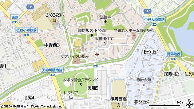 〒664-0023 兵庫県伊丹市中野西の地図