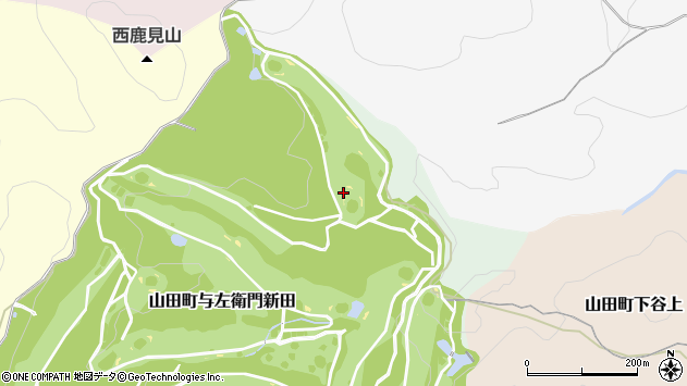 〒651-1251 兵庫県神戸市北区山田町与左衛門新田の地図
