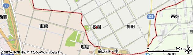 愛知県豊川市伊奈町(松間)周辺の地図
