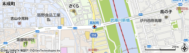 高松町周辺の地図