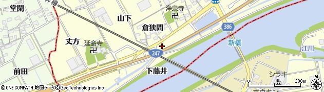 愛知県豊川市平井町(下藤井)周辺の地図