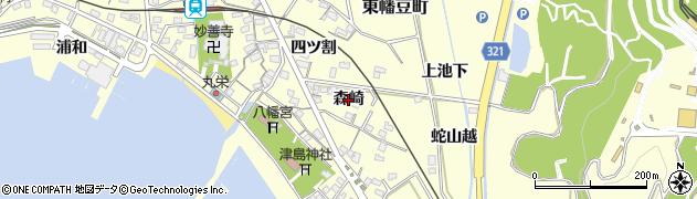 愛知県西尾市東幡豆町(森崎)周辺の地図