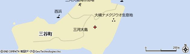 愛知県蒲郡市三谷町(大島)周辺の地図