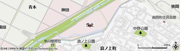 愛知県豊橋市牛川町(生土)周辺の地図