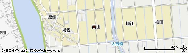愛知県西尾市吉良町大島(高山)周辺の地図