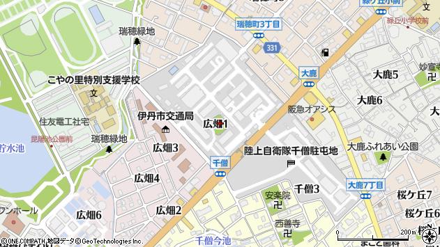 〒664-0014 兵庫県伊丹市広畑の地図