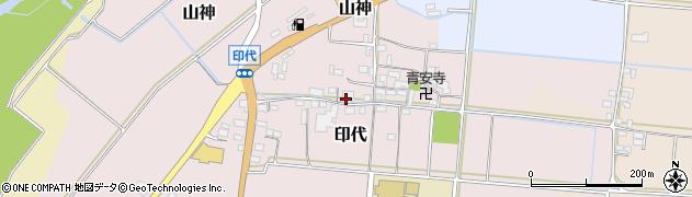 三重県伊賀市印代周辺の地図