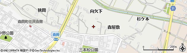 愛知県豊橋市石巻本町(森屋敷)周辺の地図
