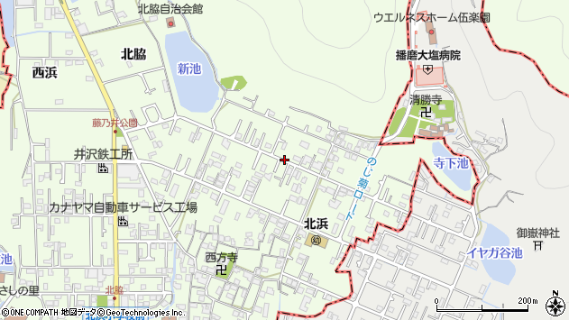 〒671-0122 兵庫県高砂市北浜町北脇の地図