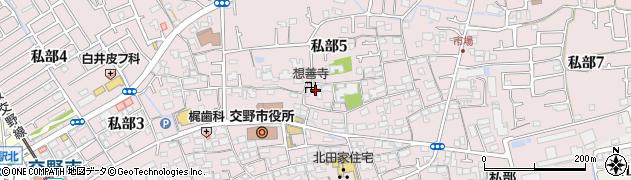 想善寺周辺の地図