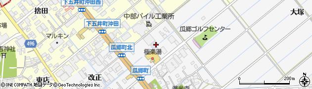 愛知県豊橋市瓜郷町周辺の地図