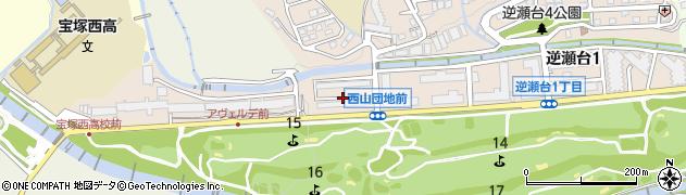 宝塚西山住宅周辺の地図