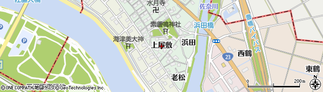 愛知県豊橋市梅薮町(上屋敷)周辺の地図