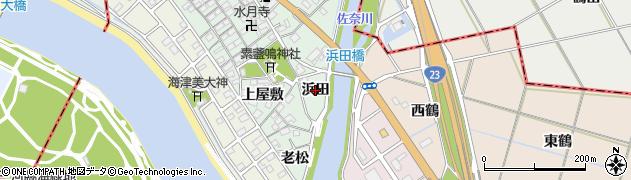 愛知県豊橋市梅薮町(浜田)周辺の地図
