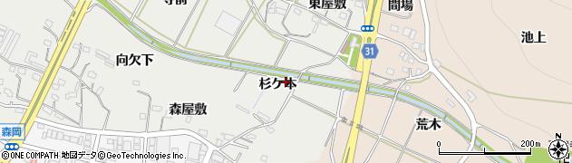 愛知県豊橋市石巻本町(杉ケ本)周辺の地図