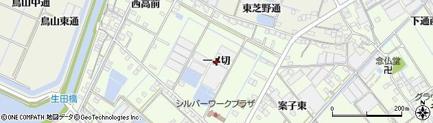 愛知県西尾市一色町生田(一ノ切)周辺の地図